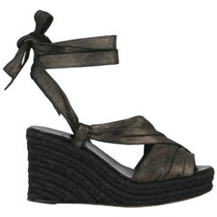 Hermes Women  Sandals Anthracite Leather IT 37