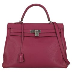 Hermes Women  Shoulder bags  Kelly 35 Purple Leather