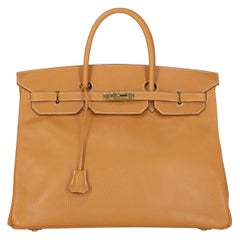 Hermes Women's Birkin 40 Camel Color Leather