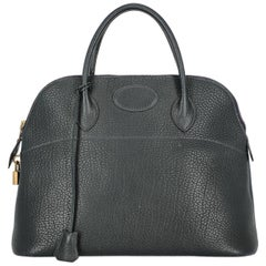 Hermes Women's Bolide Navy Leather