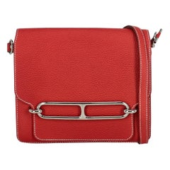 Hermès women's Cross body bag Red Leather
