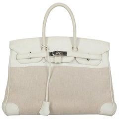 Hermès Women's Handbag Birkin White Leather