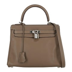 Hermès Women's Handbag Kelly 25 Brown Leather