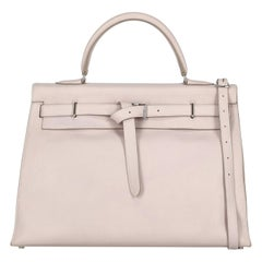 Hermes Women's Handbag Kelly Flat Pink Leather