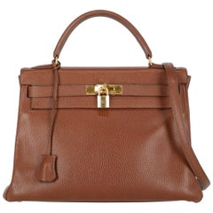 Hermes Women's Kelly 32 Brown Leather