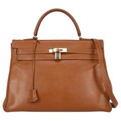 Hermes Women's Kelly 35 Camel Color Leather