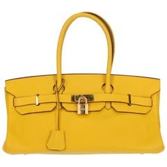 Hermes Women's Shoulder Bag Birkin Shoulder Yellow Leather