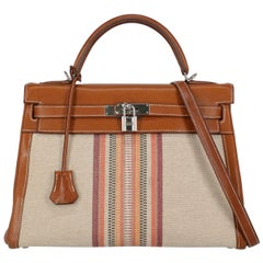 Hermès Women's Tote Bag Kelly 32 Brown Leather