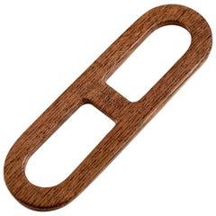 Hermès Wood and Resin Scarf Ring