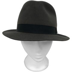 Hermes Wool Fedora by Chapeaux Motsch w/Grosgrain band 59