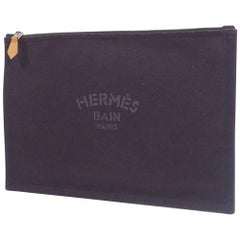 HERMES Yachting GM Womens clutch bag purple