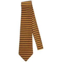 Hermès Yellow & Etoupe Geometric Tie