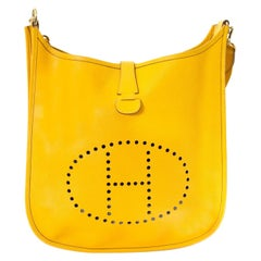 Hermès Yellow Evelyne III 33 Bag