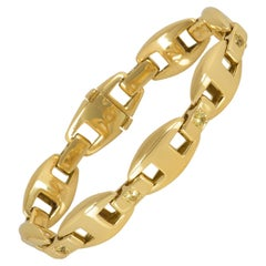 Hermès Yellow Gold and Diamond Set Bracelet