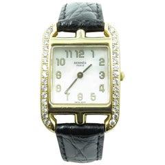 Hermes Yellow Gold Cape Cod Quartz Wristwatch