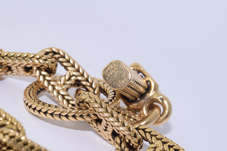 Hermes 18K Yellow Gold Chaine D Ancre Bracelet In Good Condition For Sale In New York, NY