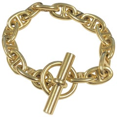 Hermes Yellow Gold Chaine D' Ancre Bracelet