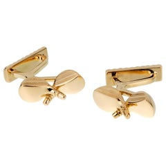 Hermès Yellow Gold Golf Club Cufflinks