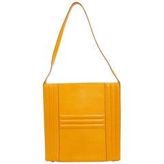 HERMES Yellow Padlock Bag