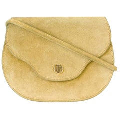 Hermes Yellow Suede Shoulder Bag