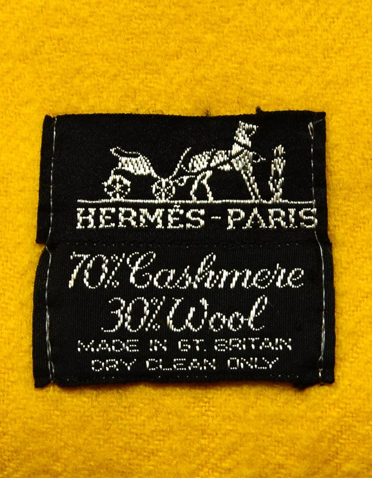 Hermes Yellow Wool/Cashmere 70x55
