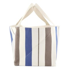 Hermes Zulu Tote Striped Canvas PM