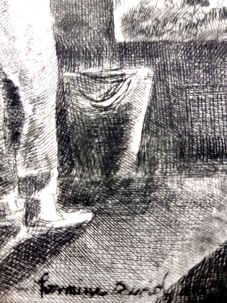Hermine David - Workers - Original Etching For Sale 1