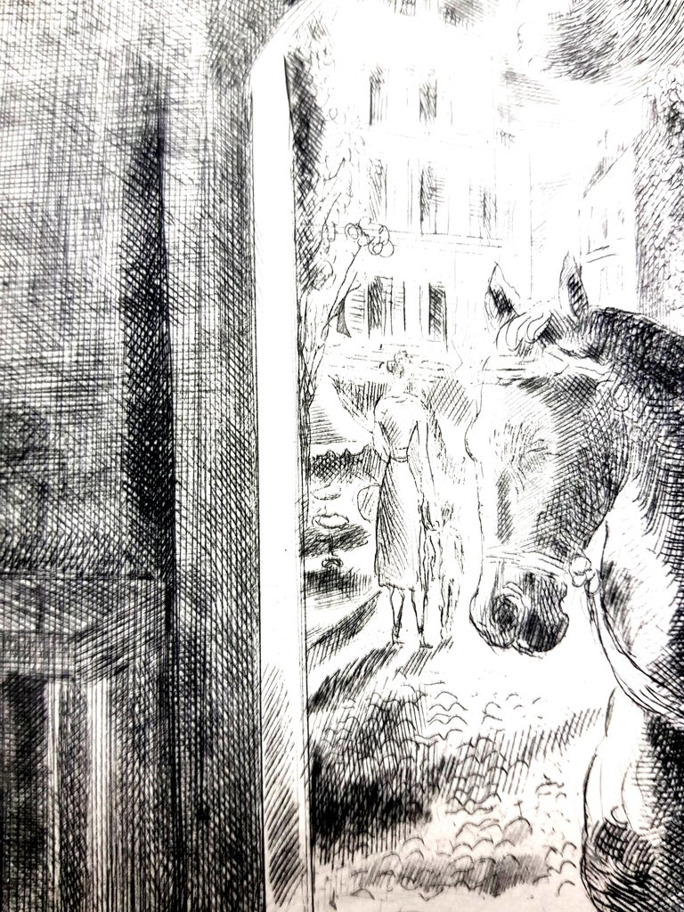 Hermine David - Workers - Original Etching For Sale 2