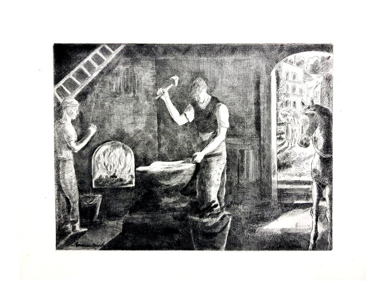 Hermine David - Workers - Original Etching For Sale 5