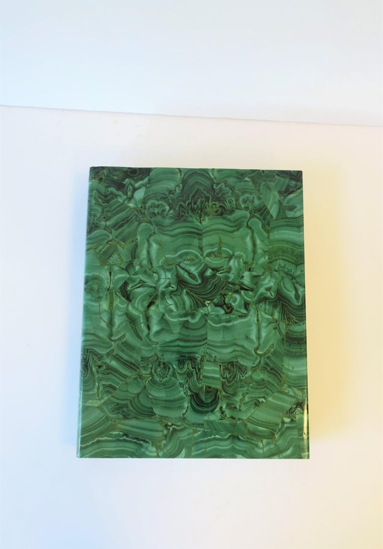 Paper Hermitage Museum Coffee Table of Library Books with Malachite Green Dust Jackets For Sale