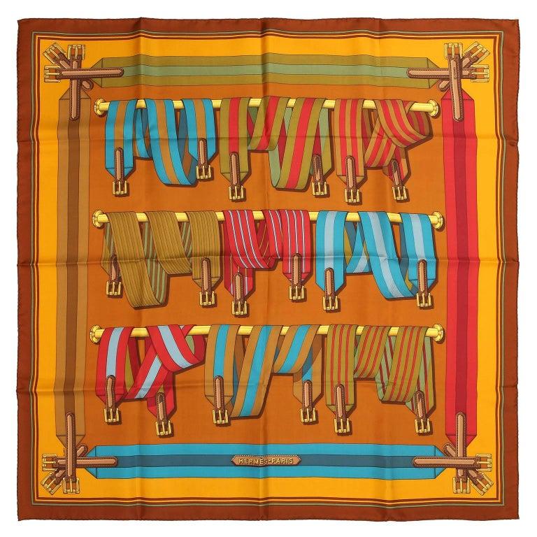 Hermès Belt Print 90 cm Silk Scarf