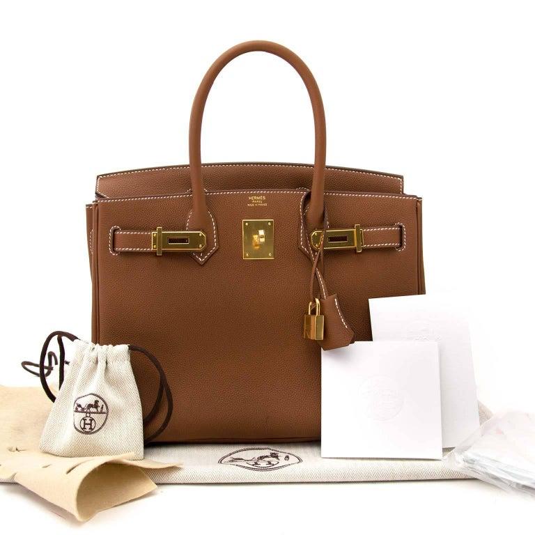 26213c723d Hermès 30 Togo Gold GHW Birkin Bag at 1stdibs