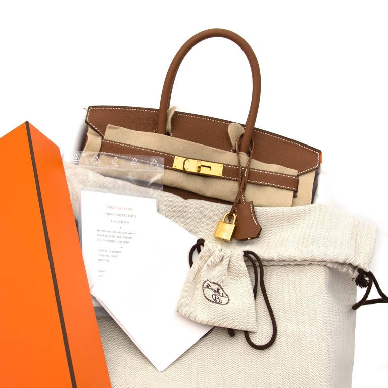 714bd41a5c Brown Hermès 30 Togo Gold GHW Birkin Bag For Sale