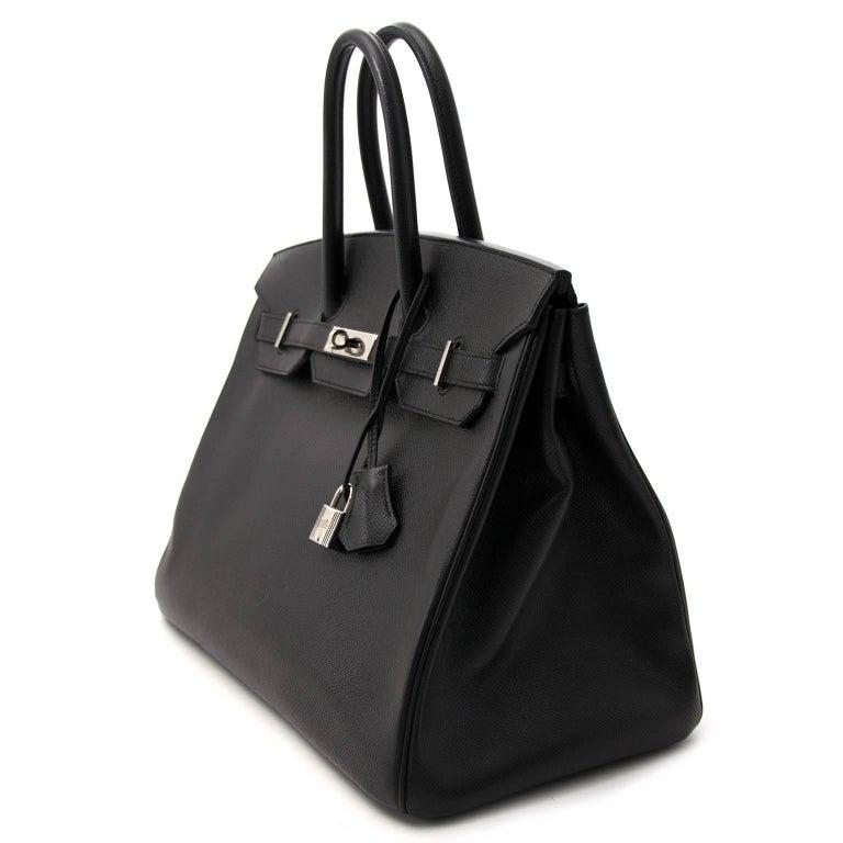 22524eae834f6 Very good condition Hermès Birkin 35 Black Epsom PHW Who doesn t love black