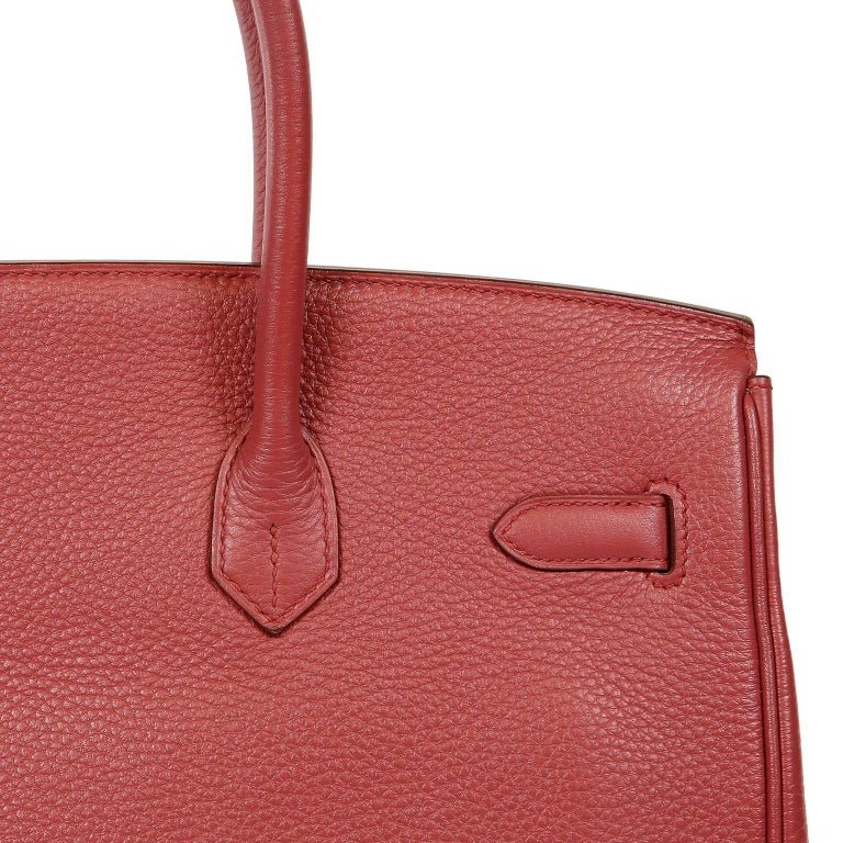 Hermès Bois de Rose Togo Leather 35 cm Birkin Bag For Sale 10
