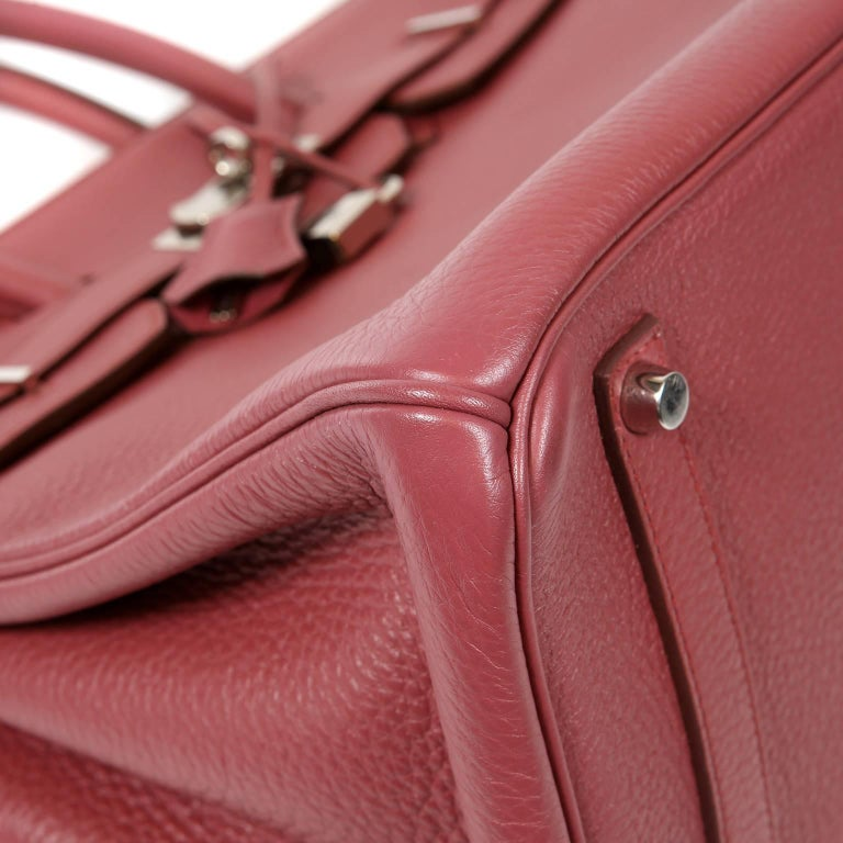 Women's Hermès Bois de Rose Togo Leather 35 cm Birkin Bag For Sale