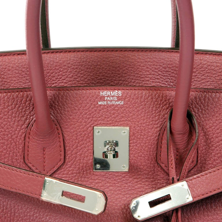 Hermès Bois de Rose Togo Leather 35 cm Birkin Bag For Sale 3