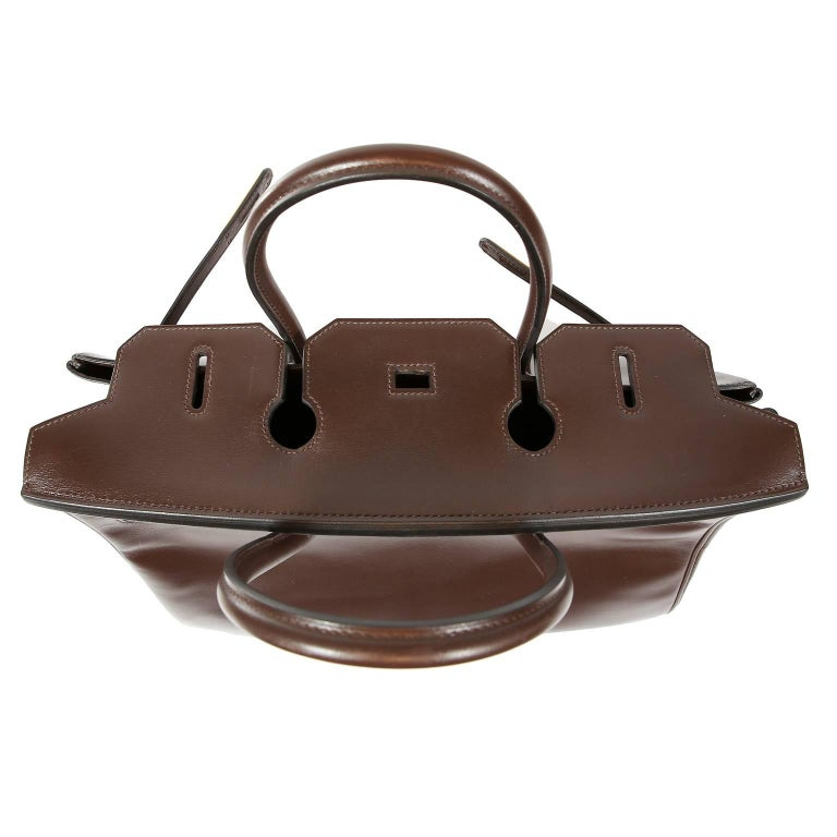 Hermès Chocolate Box Calf 35 cm Birkin Bag For Sale 5