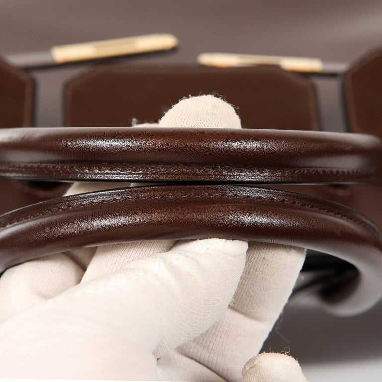 Hermès Chocolate Box Calf 35 cm Birkin Bag For Sale 6