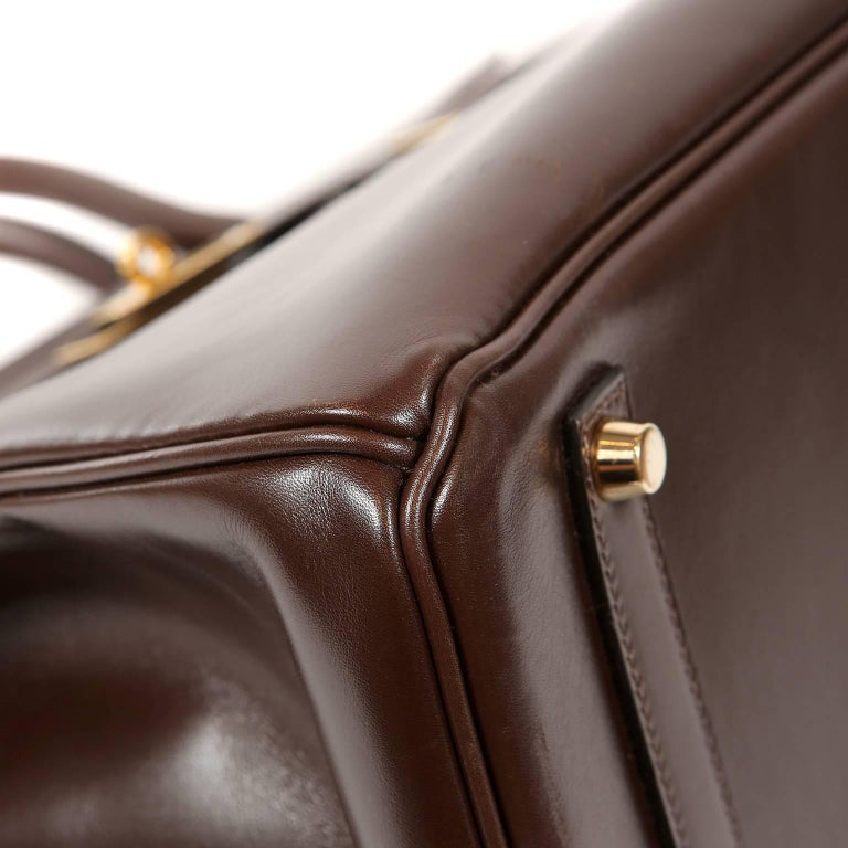 Hermès Chocolate Box Calf 35 cm Birkin Bag For Sale 1