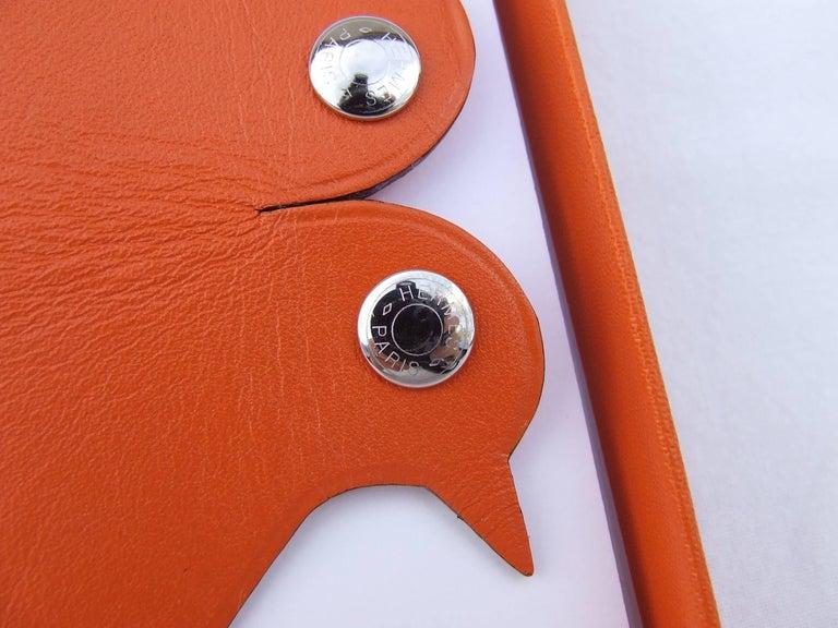 Women's or Men's Hermès Clickazoo La Colombe Dove Foldable Leather Animal   For Sale
