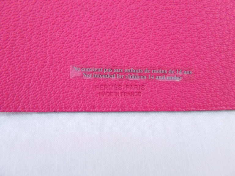 Hermès Clickazoo La Colombe Dove Foldable Leather Animal   For Sale 4