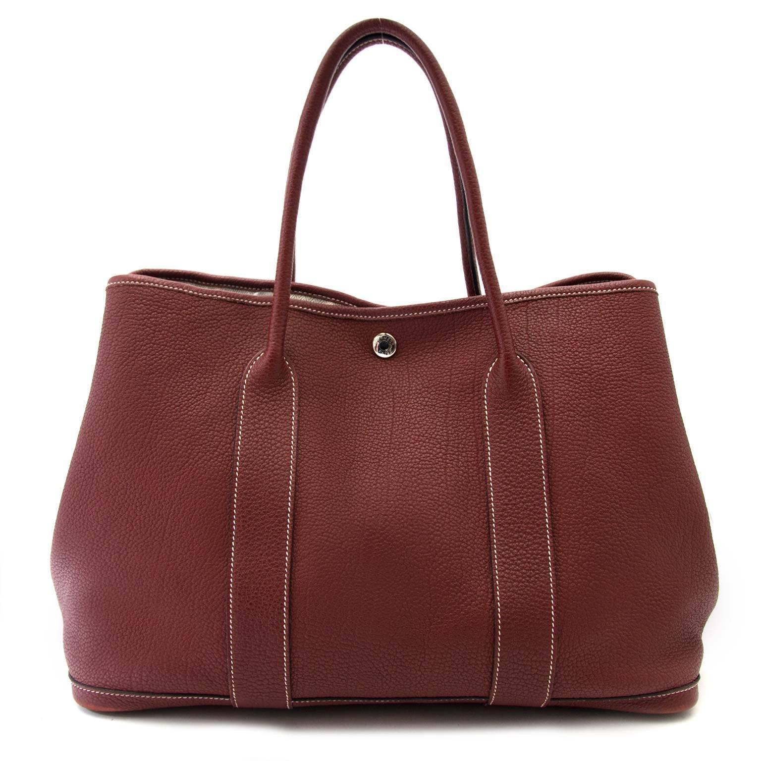 6832b445c72e Hermès Garden Party 36 Bordeaux tote bag at 1stdibs