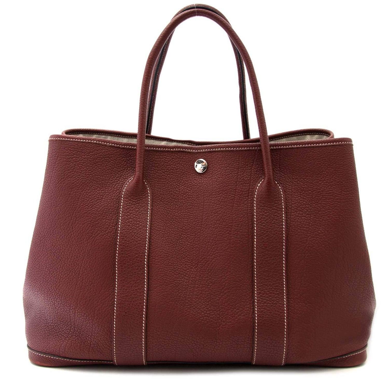7f84e07e2d8d Hermès Garden Party 36 Bordeaux tote bag For Sale at 1stdibs