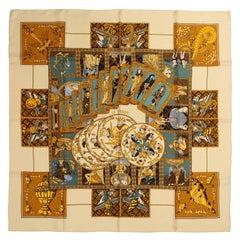Hermès Le Tarot 90 cm Silk Scarf