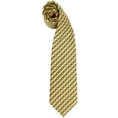 Hermès Multicolor Printed Silk Vintage Tie, 1990s