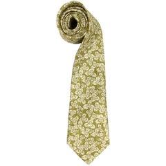 Hermès Multicolor Printed Vintage Silk Tie, 1990s