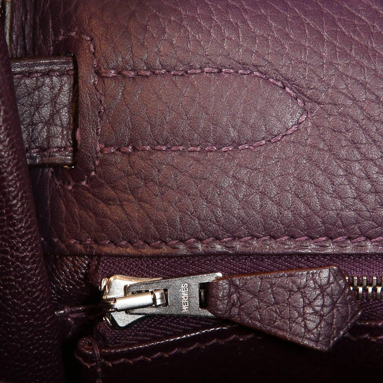 Hermès Raisin Togo 32 cm Kelly Bag For Sale 9