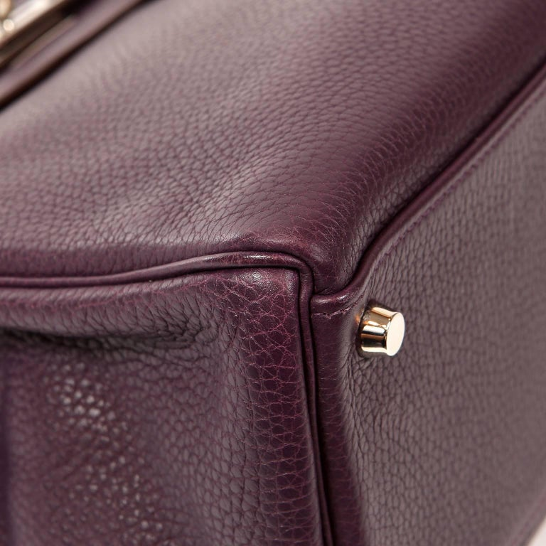 Hermès Raisin Togo 32 cm Kelly Bag For Sale 1