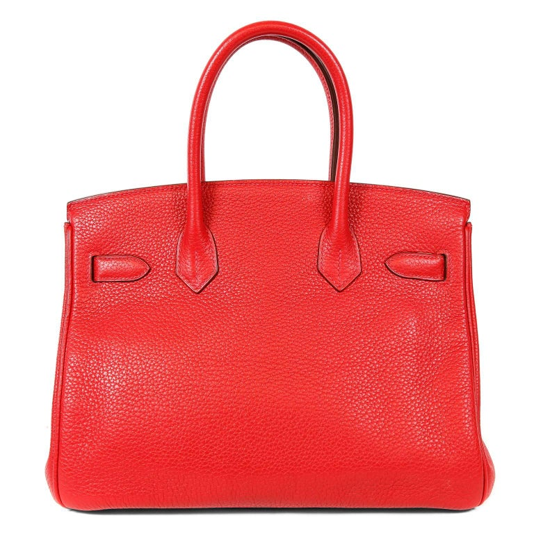 Hermès Rouge H Togo 30 cm Birkin- Pristine overall condition Hand stitched by skilled craftsmen, wait lists of a year or more are not uncommon for the Hermès Birkin. They are considered the ultimate in luxury fashion. Togo is highly desirable